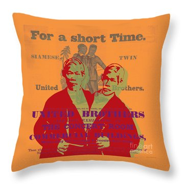 Eng And Chang Throw Pillow by Jean luc Comperat