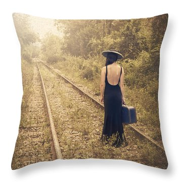 Engaged With Destiny Throw Pillow