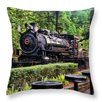 Engine 102 Throw Pillow by Victor Montgomery