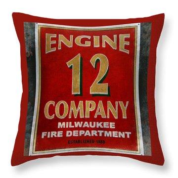 Engine 12 Throw Pillow by Susan  McMenamin