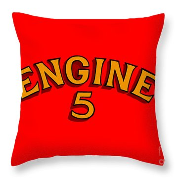 Engine 5 Throw Pillow