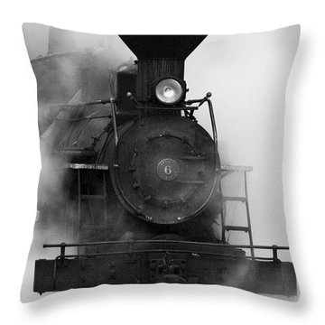 Throw Pillow featuring the photograph Engine No. 6 by Jerry Fornarotto