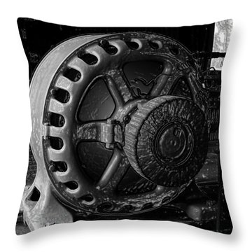 Engine Of A Mad Scientist Throw Pillow by David Lee Thompson