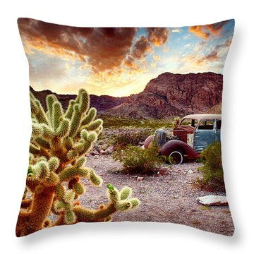 Engine Trouble Throw Pillow