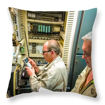 Engineering Control Room Throw Pillow