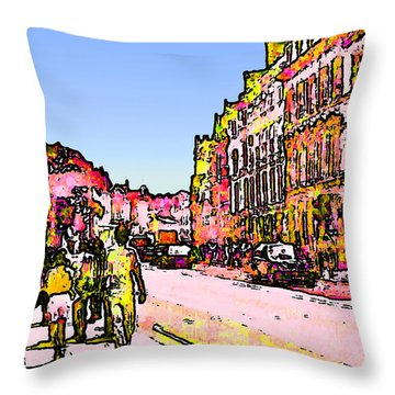 England 1986 Oxford Street Snapshot0145a2 Jgibney The Museum Zazzle Gifts Throw Pillow by The MUSEUM Artist Series jGibney