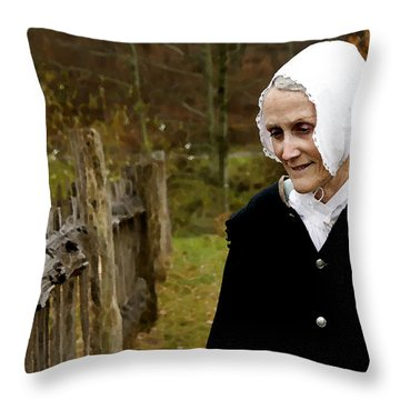 England On The Virginia Frontier Throw Pillow