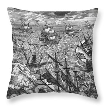 England S Great Storm Throw Pillow by English School