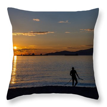 English Bay Vancouver II Throw Pillow