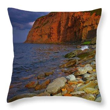 English Coastline Throw Pillow
