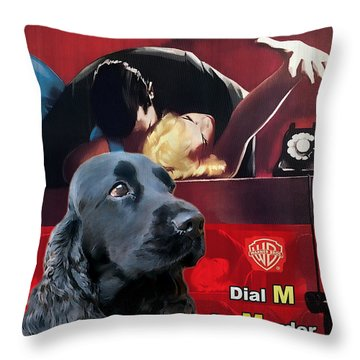 English Cocker Spaniel Art - Dial M For Murder Throw Pillow