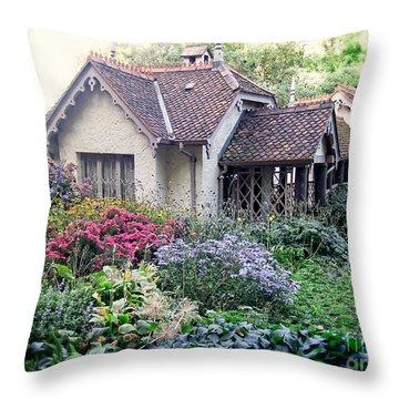 English Cottage Garden Throw Pillow