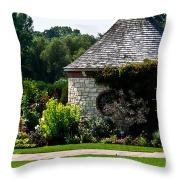 English Cottage Garden Throw Pillow