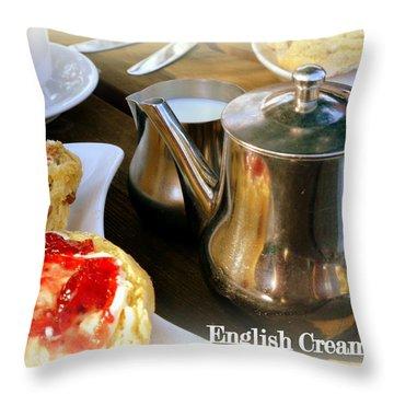 English Cream Tea Throw Pillow