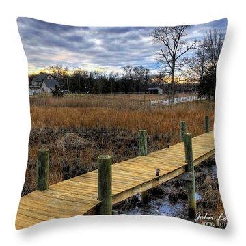 English Creek Throw Pillow by John Loreaux