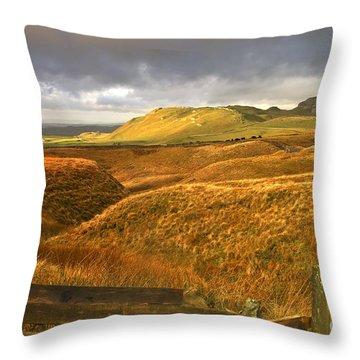 English Moorland Landscape Throw Pillow