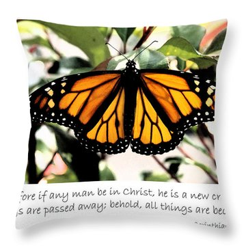 English New Creature In Christ Throw Pillow