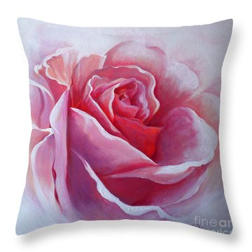 Throw Pillow featuring the painting English Rose by Sandra Phryce-Jones