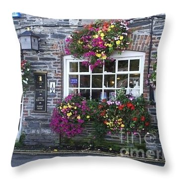 English Shop Throw Pillow by Bev Conover