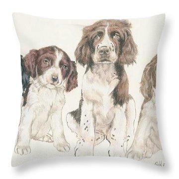 English Springer Spaniel Puppies Throw Pillow