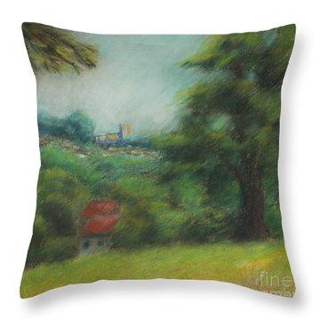 English Summer Landscape  Throw Pillow by Ewa Hearfield