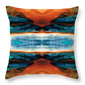 Enigma - Conscious Art By Sharon Cummings Throw Pillow by Sharon Cummings