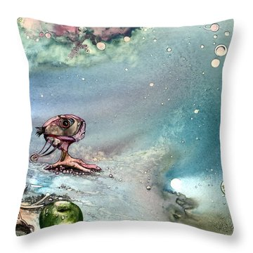 Throw Pillow featuring the painting Enigma by Mikhail Savchenko