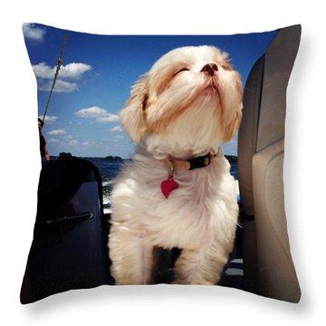 Enjoy Life Throw Pillow