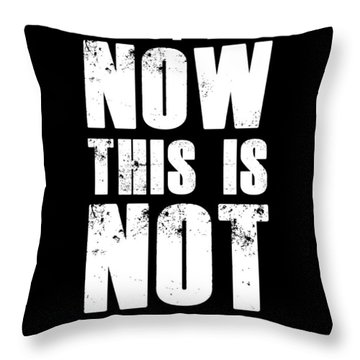 Enjoy Life Now Poster Black Throw Pillow