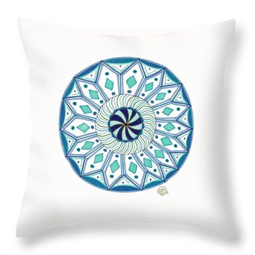 Enjoy The Breath Of Life Throw Pillow by Signe  Beatrice