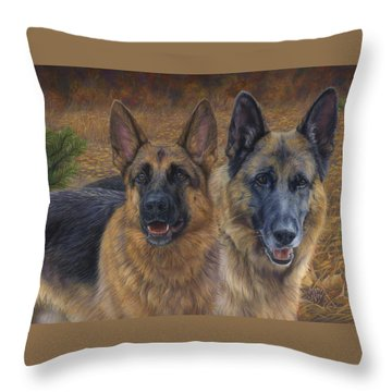 Enjoying The Fall Throw Pillow