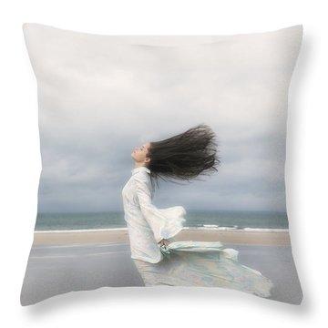 Enjoying The Wind Throw Pillow by Joana Kruse