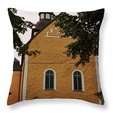 enkoepingsnaes church from east Db Throw Pillow