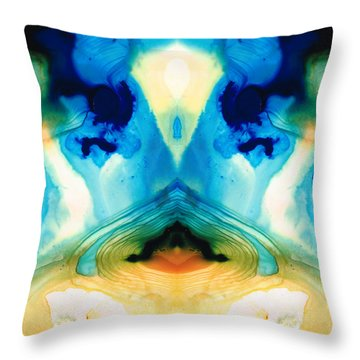 Enlightenment - Abstract Art By Sharon Cummings Throw Pillow by Sharon Cummings