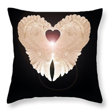 Throw Pillow featuring the digital art Enlightenment  by Eric Kempson