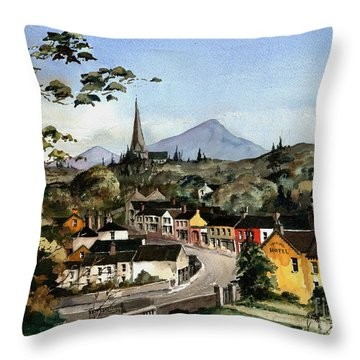 Enniskerry Panorama Wicklow Throw Pillow
