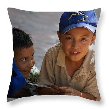 Ensenada Boys 07 Throw Pillow