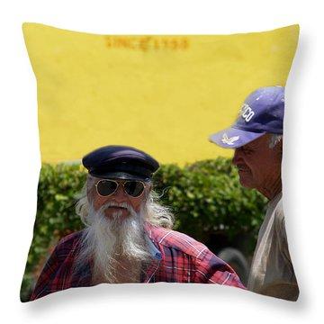 Ensenada Harbour And Fish Market 32 Throw Pillow