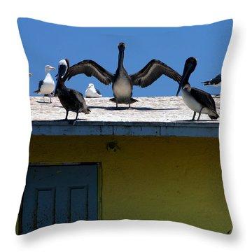 Ensenada Harbour And Fish Market 34 Throw Pillow