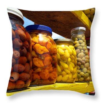Ensenada Olive Stand 09 Throw Pillow