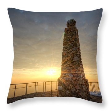 Ensign Peak Nature Park Utah Throw Pillow