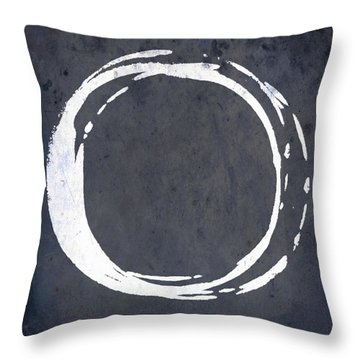 Enso No. 107 Blue Throw Pillow