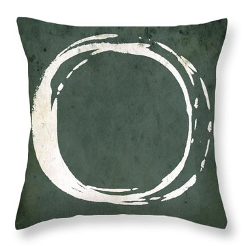 Enso No. 107 Green Throw Pillow
