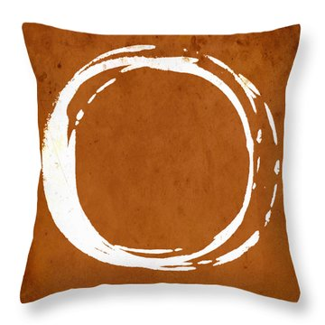 Enso No. 107 Orange Throw Pillow