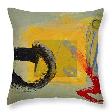Enso Sun Block Throw Pillow
