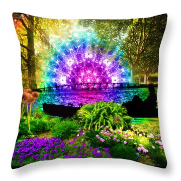 Throw Pillow featuring the painting Ensueno by Jalai Lama