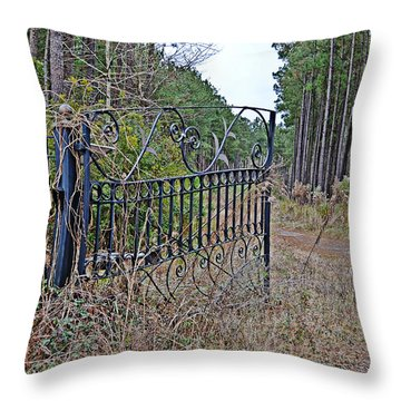 Throw Pillow featuring the photograph Enter At Your Own Risk by Linda Brown