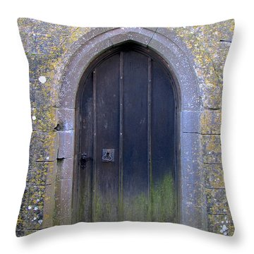 Enter At Your Own Risk Throw Pillow by Suzanne Oesterling