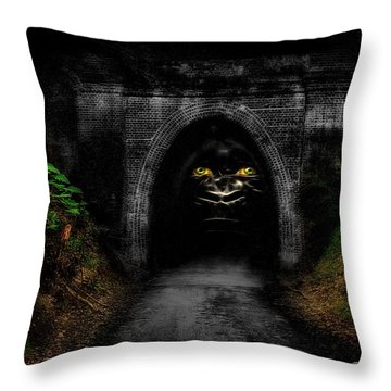 Enter If You Dare 01 Throw Pillow by Kevin Chippindall