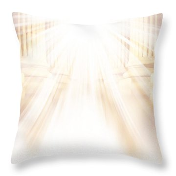 Enter Into His Courts Throw Pillow